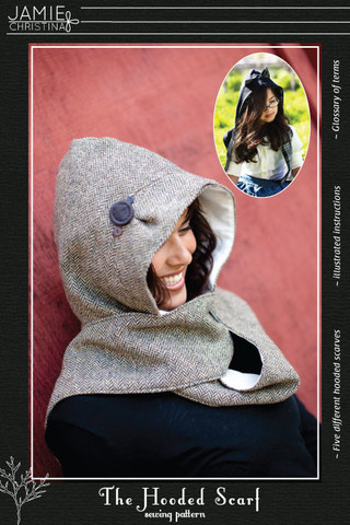 Jamie Christina Hooded Scarf Pattern (JC307HS)