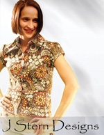 J Stern Designs Top with two collars and a Peplum Pattern