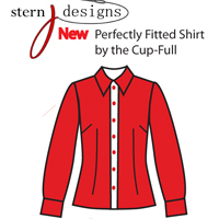 Jennifer Stern The Perfectly Fitted Shirt by the Cup-Full Pattern ( Size 6-14(Cup A-DD) )