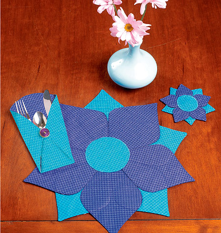 Kwik Sew Placemat, Coaster and Silverware Case 0123