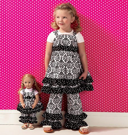 Kwik Sew Girls' Top, Pants and Overalls; Dolls' Top and Pants 0135
