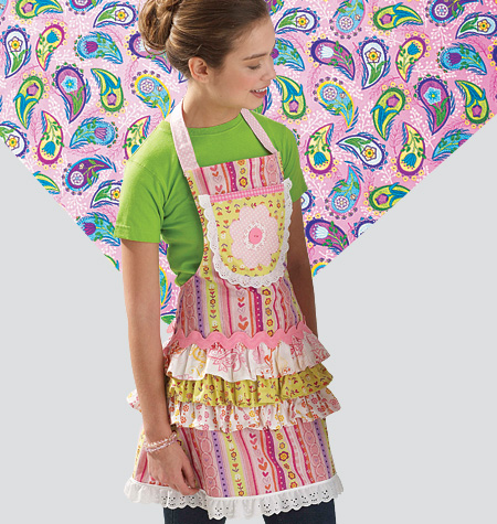Kwik Sew Misses'/Girls'/Dolls' Aprons 0136