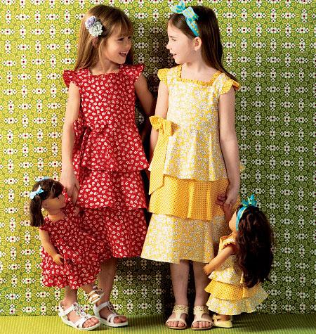 Kwik Sew Girls'/Doll's Dresses 0144
