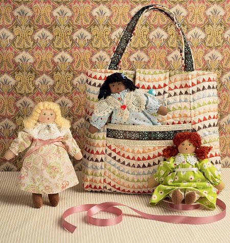 Kwik Sew Tote and Dolls 0148