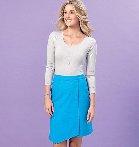 Kwik Sew Misses' Shaped-Overlay Skort and Skirt 4161
