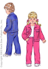 Kwik Sew Toddlers Jacket & Pants 3113