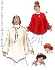 KIDS FLEECE PONCHO PATTERN | Free Patterns
