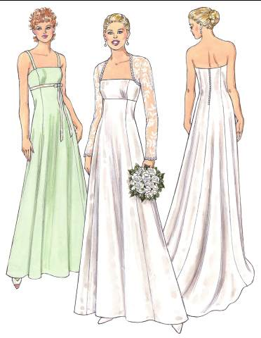 Kwik Sew 3400 from Kwik Sew patterns is a Misses Gowns Bolero sewing
