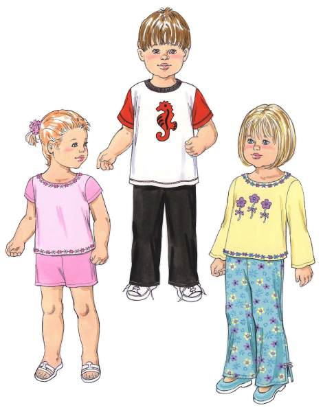 Kwik Sew Toddlers Shirts, Pants, and Shorts 3424