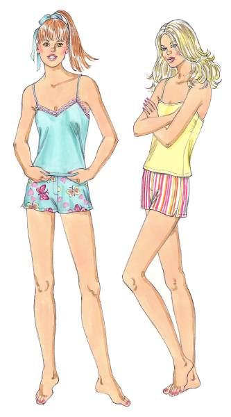 Kwik Sew Misses Sleepwear 3425