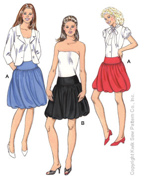 Kwik Sew Misses Skirts 3451