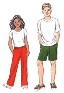 Kwik Sew Unisex Children Pants and Shorts 3456