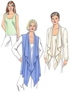 Kwik Sew Misses Jacket, Vest and Top 3462