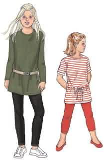 Kwik Sew Girls Tunics and Leggings 3476