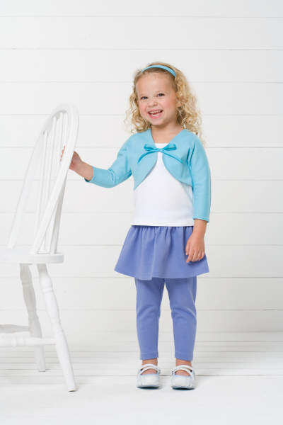 Kwik Sew Toddlers Top, Bolero, Skirt and Leggings 3501