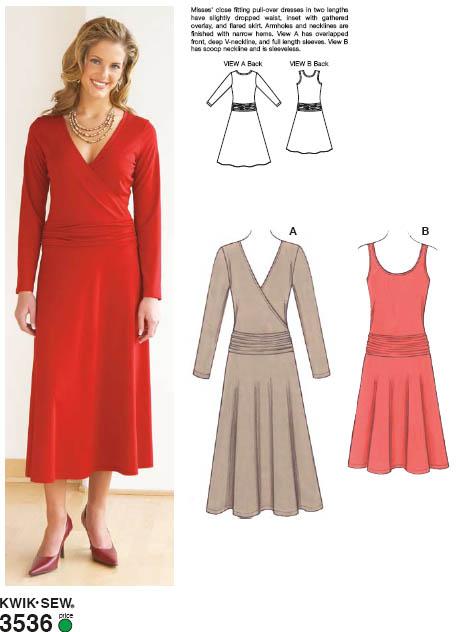 Kwik Sew Dresses 3536