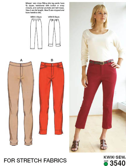 Kwik Sew Pants 3540