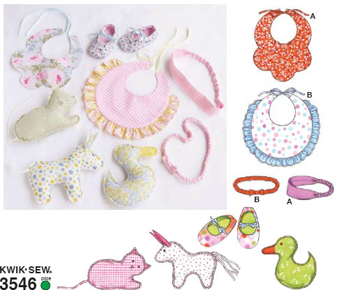 Kwik Sew Toys and Accessories 3546