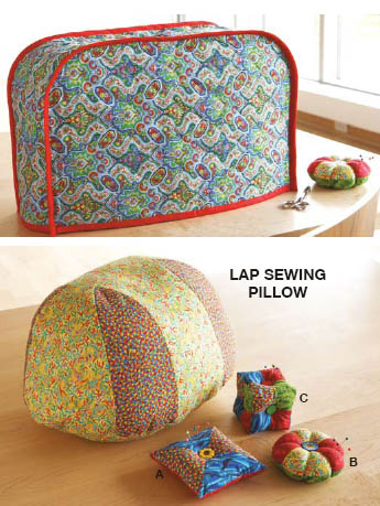 Kwik Sew Sewing Machine Cover Sewing Pillow and Pin Cushions 3548
