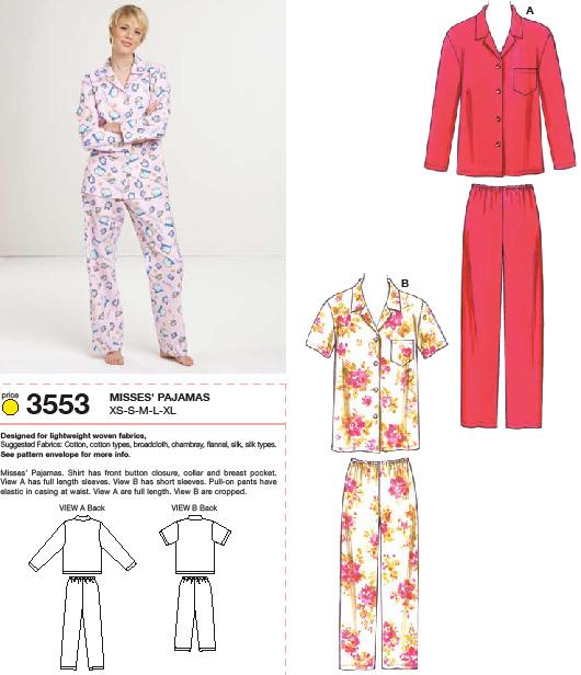 Kwik Sew Pajamas 3553