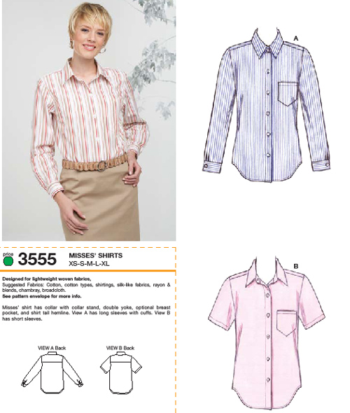 Kwik Sew Shirts 3555