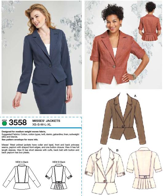 Kwik Sew Jackets 3558