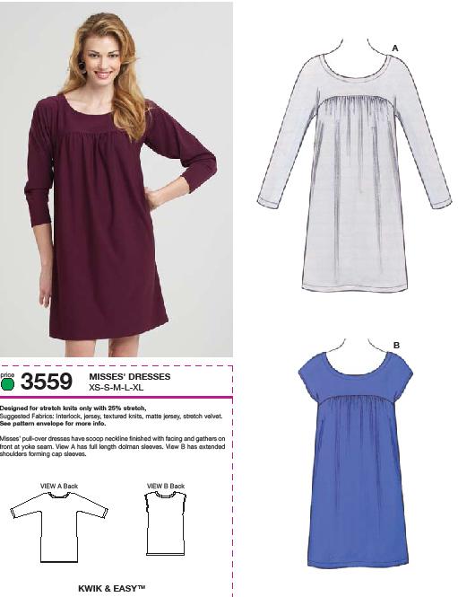 Kwik Sew Dress and Top 3559