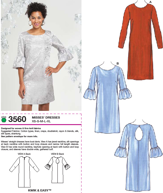 Kwik Sew Dresses 3560