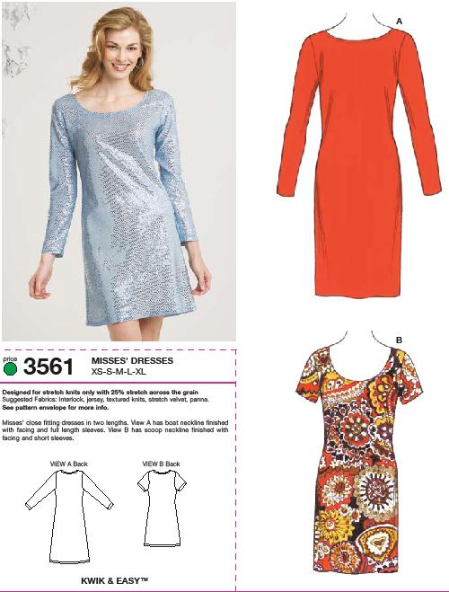 Kwik Sew Dresses 3561