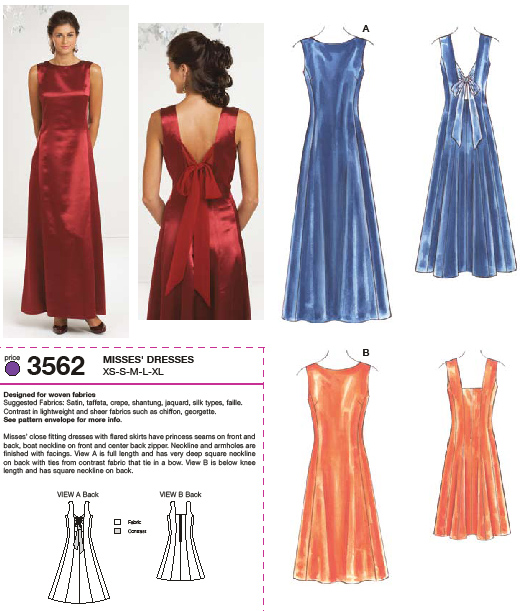Kwik Sew Dresses 3562