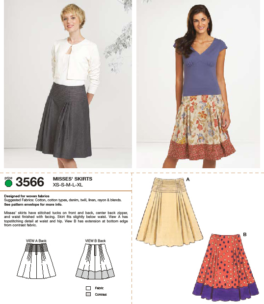 Kwik Sew Skirts 3566
