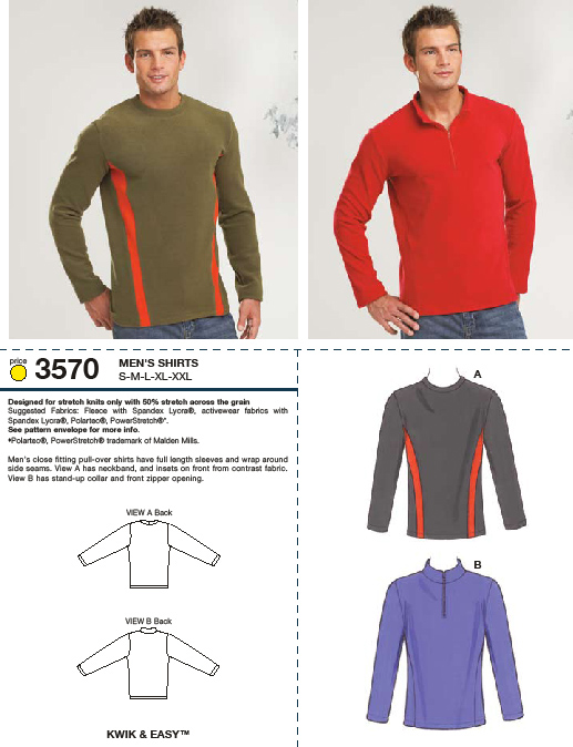 Kwik Sew Shirts 3570