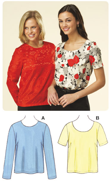 Kwik Sew Misses Pull-Over Tops 3600