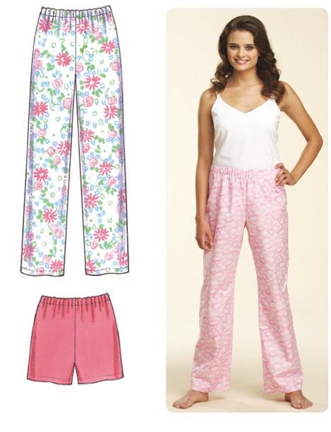 Kwik Sew Misses Sleep Pants and Shorts 3602