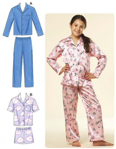 Kwik Sew Boys and Girls Pajamas 3604