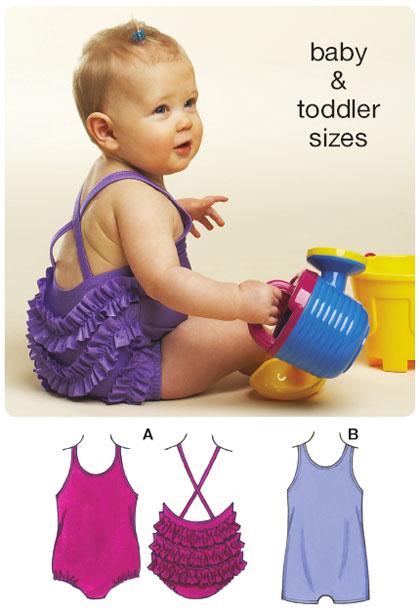 Kwik Sew Baby & Toddler Swimsuits 3606