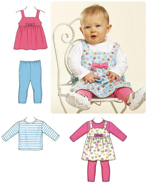 Kwik Sew Baby Jumper, Top & Leggings 3607