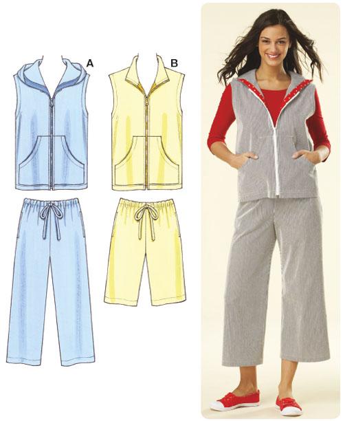 Kwik Sew Misses Pants, Shorts & Vest 3615