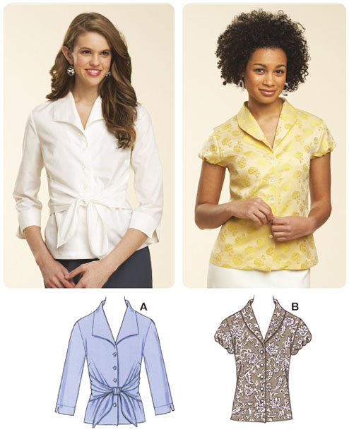 Kwik Sew Misses Fitted Blouses 3620