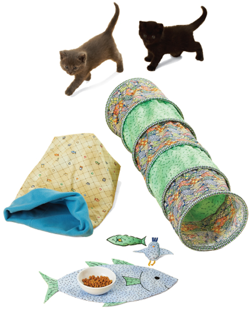 Kwik Sew Tunnels, Snuggle Sack, Placemat & Toys 3642
