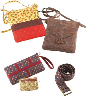 Kwik Sew  Crafts: Bags, Coin Purse, Wristlet and Belts 3651