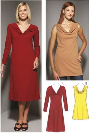 Kwik Sew  Misses' Dress and Tunic 3652