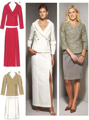 Kwik Sew  Misses' Jackets & Skirts 3655