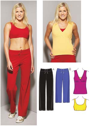 Kwik Sew  Misses' Top, Bra & Pants 3660