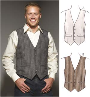 Kwik Sew  Men's Vests 3662