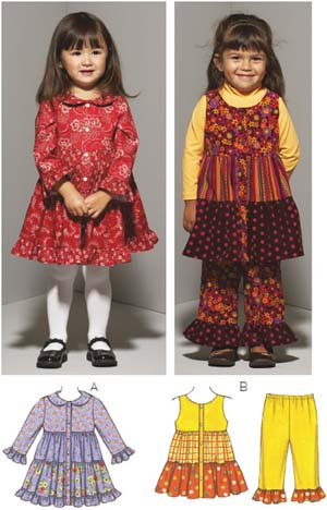 Kwik Sew  Toddlers' Dresses & Pants 3664