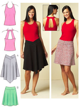 Kwik Sew Top & Skirts 3672
