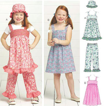 Kwik Sew Sugar & Spice Dresses, Pants & Hat 3673