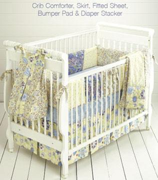 Kwik Sew Crib Comforter, Skirt, Fitted Sheet, Bumper Pad & Diaper Stacker 3685