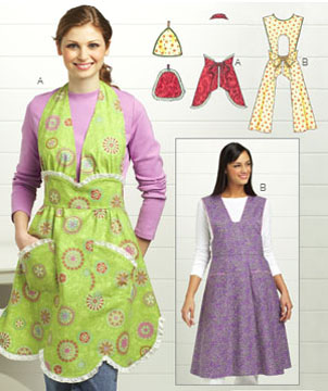 Kwik Sew Vintage Aprons & Pot Holders 3686